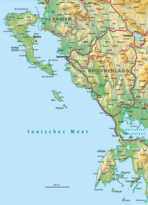 Epirus Landkarte